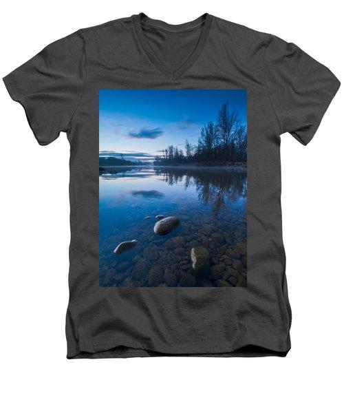Dawn At River Men's V-Neck T-Shirt
