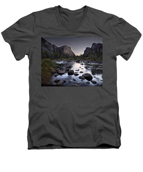 Dawn At Yosemite Gate Men's V-Neck T-Shirt