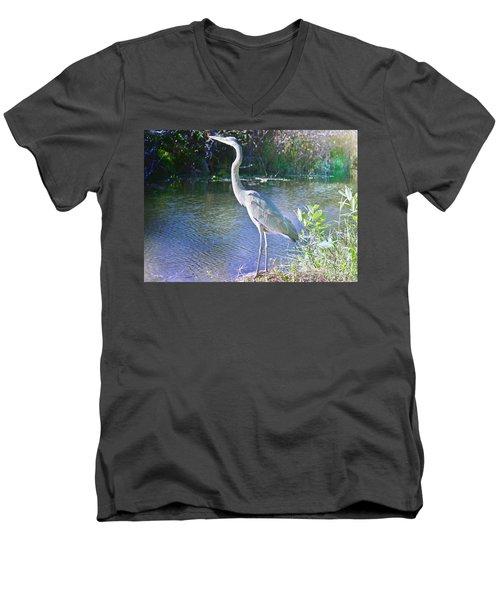 Dawn Breaking Men's V-Neck T-Shirt by Judy Kay