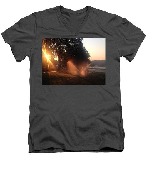 Dawn Golf Course Men's V-Neck T-Shirt