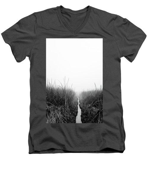 Dawn On Back Bay  Men's V-Neck T-Shirt
