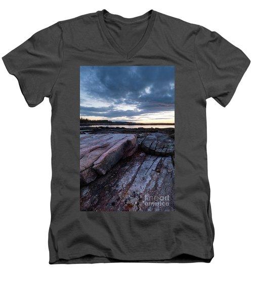 Dawn On The Shore In Southwest Harbor, Maine  #40140-40142 Men's V-Neck T-Shirt