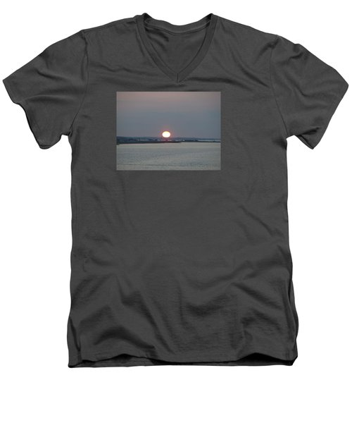 Men's V-Neck T-Shirt featuring the photograph Dawn by  Newwwman