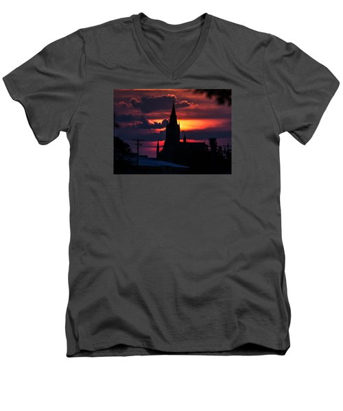Men's V-Neck T-Shirt featuring the photograph Dawning Faith by Shirley Heier