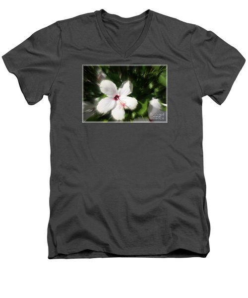 Men's V-Neck T-Shirt featuring the photograph Dawns Flower Of The Morning by Sherri  Of Palm Springs