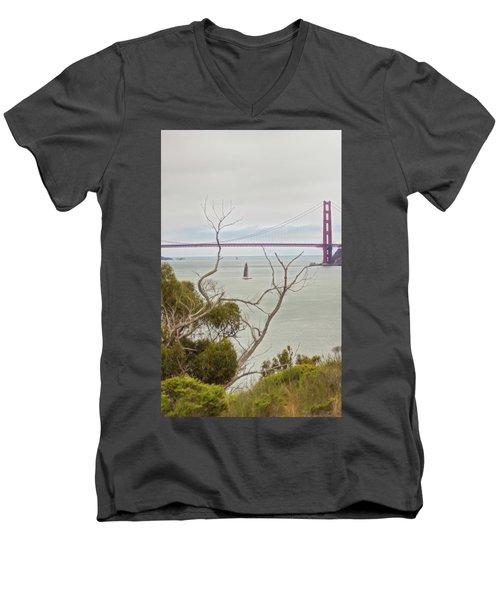 Day At The Bay Men's V-Neck T-Shirt