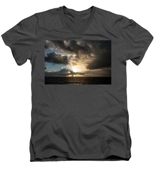 Men's V-Neck T-Shirt featuring the photograph Day Break by Allen Carroll