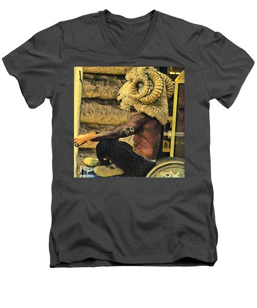 Day In Soho Men's V-Neck T-Shirt