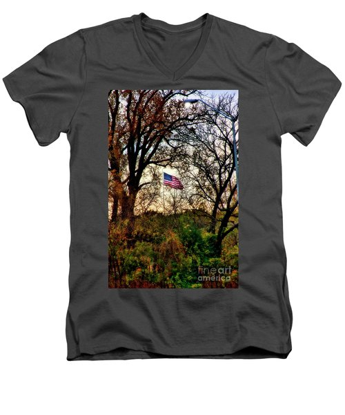 Day Is Done Men's V-Neck T-Shirt by Joan Bertucci