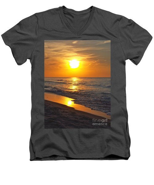 Day Is Done Men's V-Neck T-Shirt by Pamela Clements
