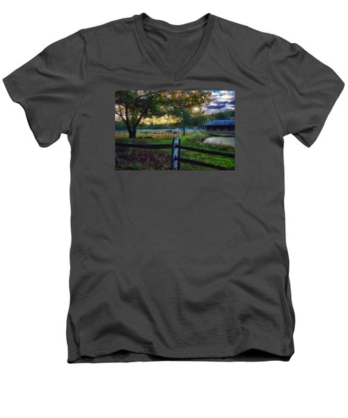 Day Is Nearly Done Men's V-Neck T-Shirt by Tricia Marchlik