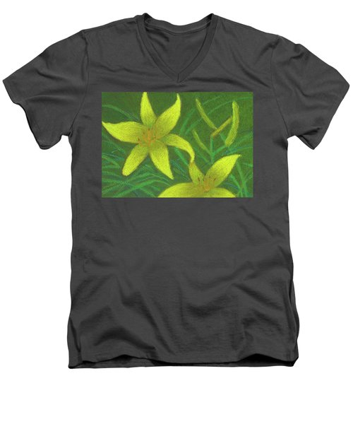 Day Lilies Men's V-Neck T-Shirt