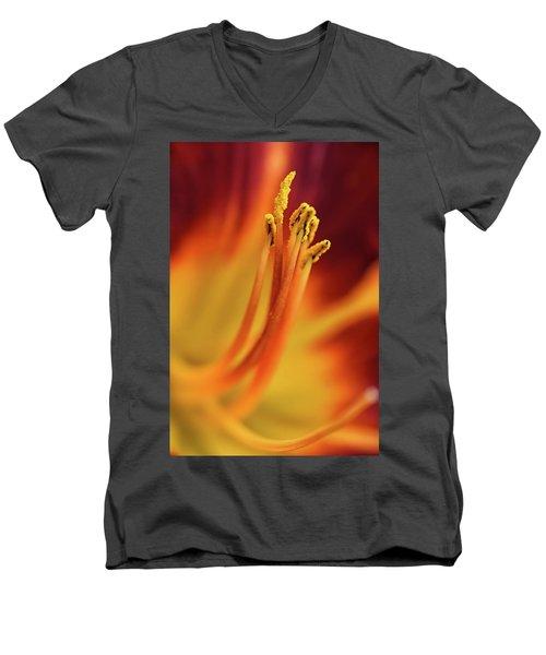 Day Lily Men's V-Neck T-Shirt