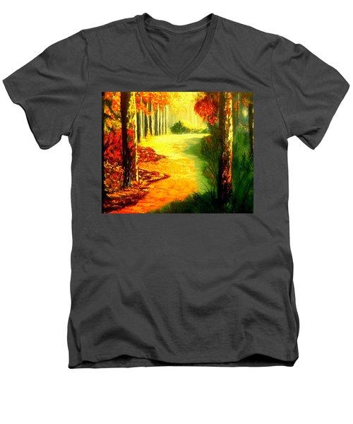 Day Of Rest Men's V-Neck T-Shirt by Manuel Sanchez