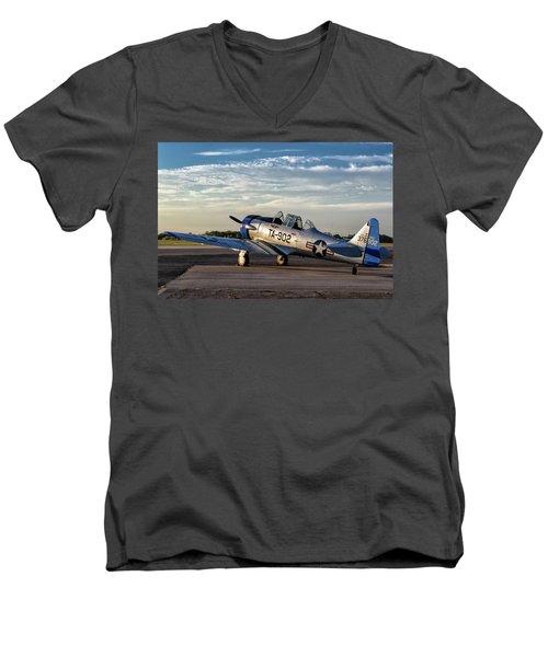 Daybreak On The Lt-6 Men's V-Neck T-Shirt