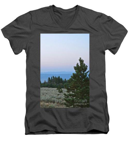 Daybreak On The Mountain Men's V-Neck T-Shirt