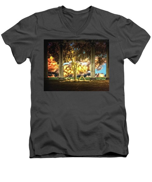 Men's V-Neck T-Shirt featuring the photograph Daybreak Redux by Mark Fuller