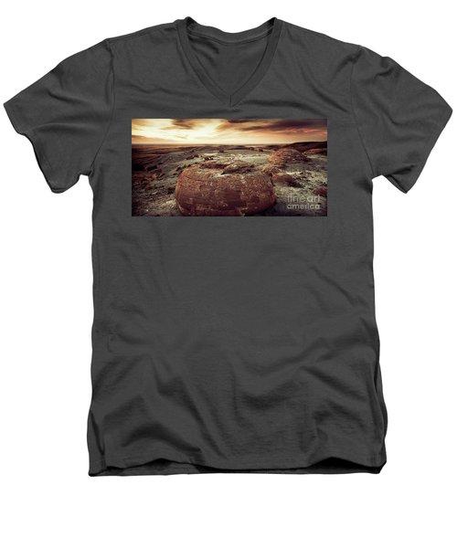 Daylight Leaving Redrock Men's V-Neck T-Shirt