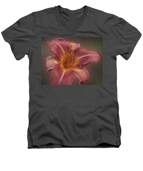 Daylily Blur Men's V-Neck T-Shirt