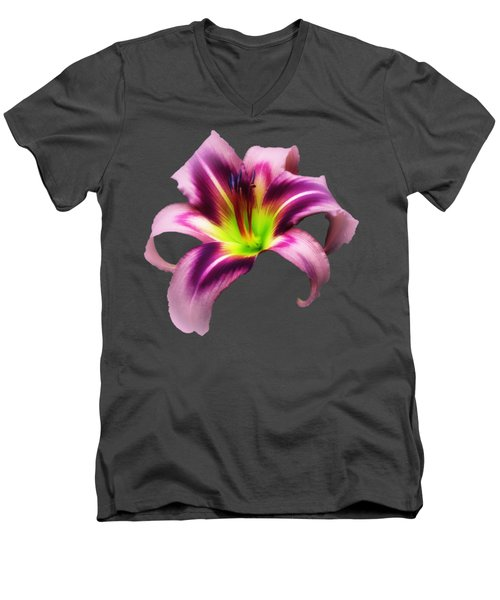 Daylily Star  Men's V-Neck T-Shirt