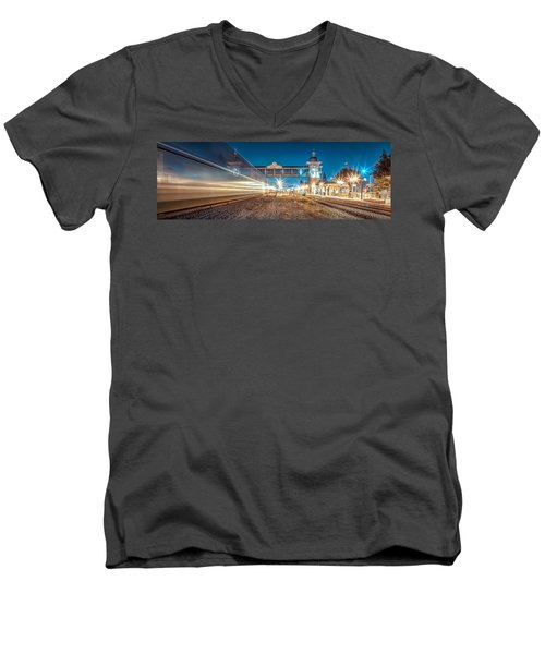 Men's V-Neck T-Shirt featuring the photograph Days Go By by TC Morgan