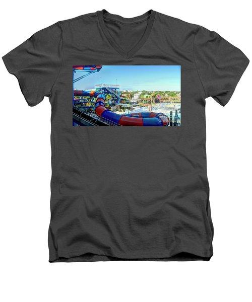 Daytona Lagoon Men's V-Neck T-Shirt