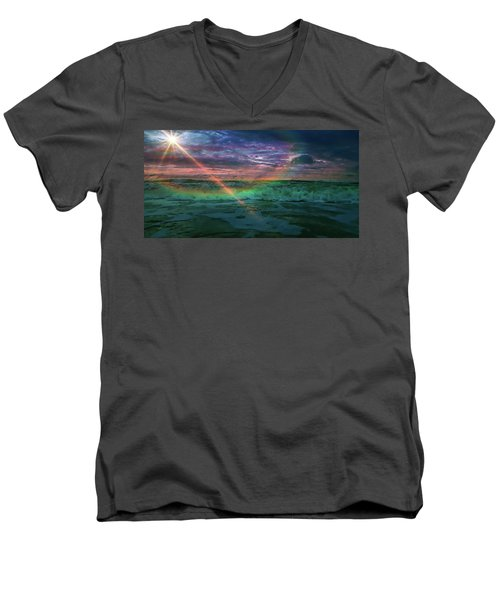 Daytona Rainbow Men's V-Neck T-Shirt
