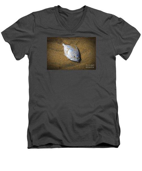 Dead Fish On The Beach Men's V-Neck T-Shirt