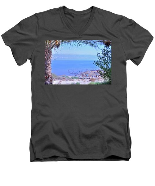 Dead Sea Overlook 2 Men's V-Neck T-Shirt
