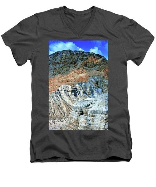 Dead Sea Scroll Caves Men's V-Neck T-Shirt