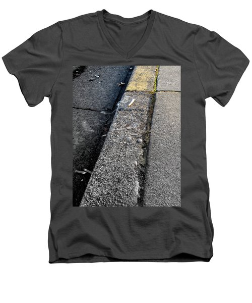 Men's V-Neck T-Shirt featuring the photograph Deadly Smoke by Marie Neder