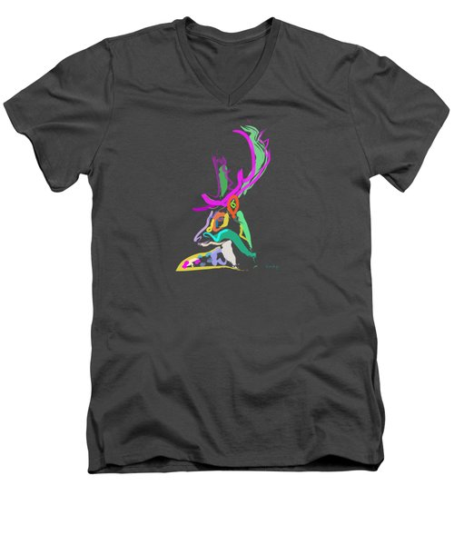 Dear Deer Men's V-Neck T-Shirt