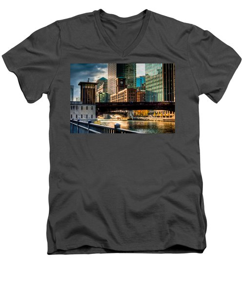 Dearborn Bridge Men's V-Neck T-Shirt