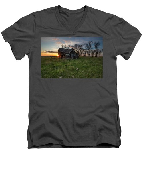 Men's V-Neck T-Shirt featuring the photograph Dearly Departed by Aaron J Groen