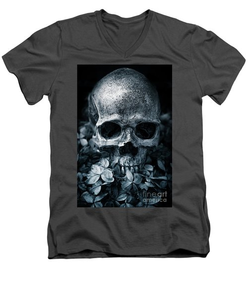 Men's V-Neck T-Shirt featuring the photograph Death Comes To Us All by Edward Fielding