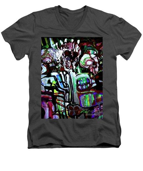 Death Study-3 Men's V-Neck T-Shirt