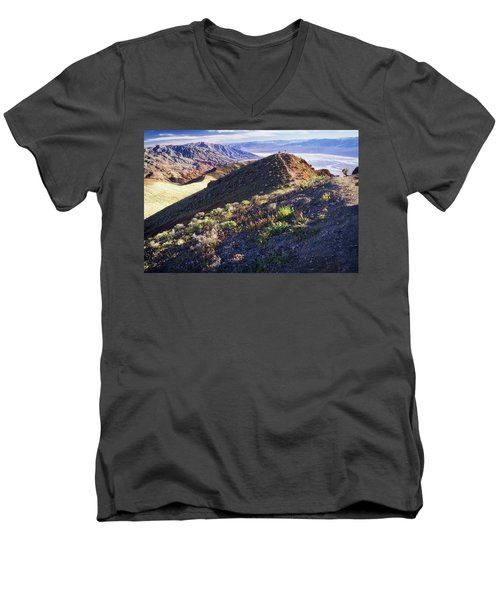 Death Valley At Spring Men's V-Neck T-Shirt