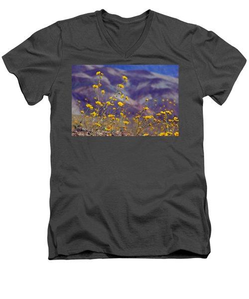 Death Valley Superbloom 103 Men's V-Neck T-Shirt by Daniel Woodrum