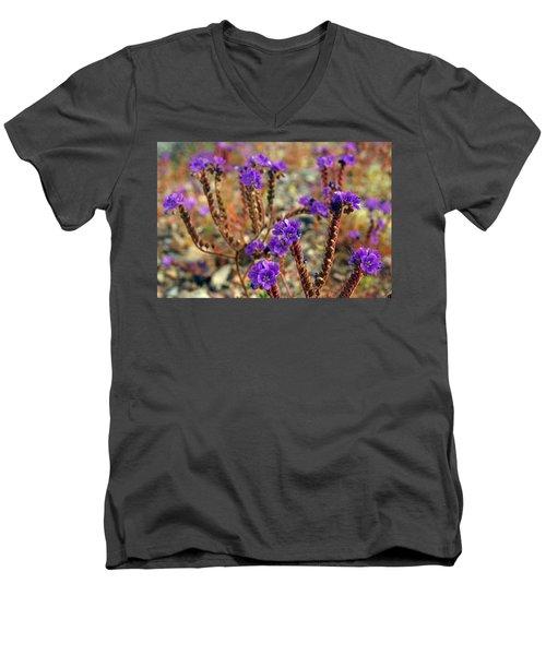 Death Valley Superbloom 106 Men's V-Neck T-Shirt by Daniel Woodrum