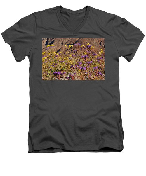 Death Valley Superbloom 401 Men's V-Neck T-Shirt by Daniel Woodrum