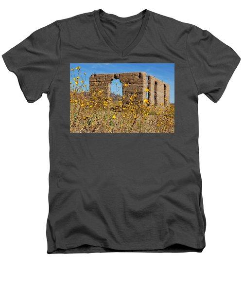 Death Valley Superbloom 404 Men's V-Neck T-Shirt by Daniel Woodrum