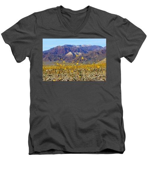 Death Valley Superbloom 405 Men's V-Neck T-Shirt by Daniel Woodrum