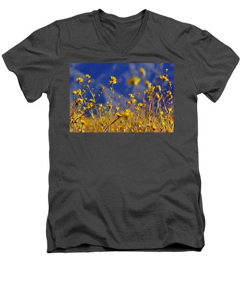 Death Valley Superbloom 505 Men's V-Neck T-Shirt by Daniel Woodrum