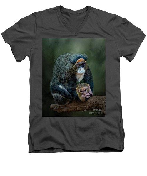 Debrazza's Monkey And Baby Men's V-Neck T-Shirt