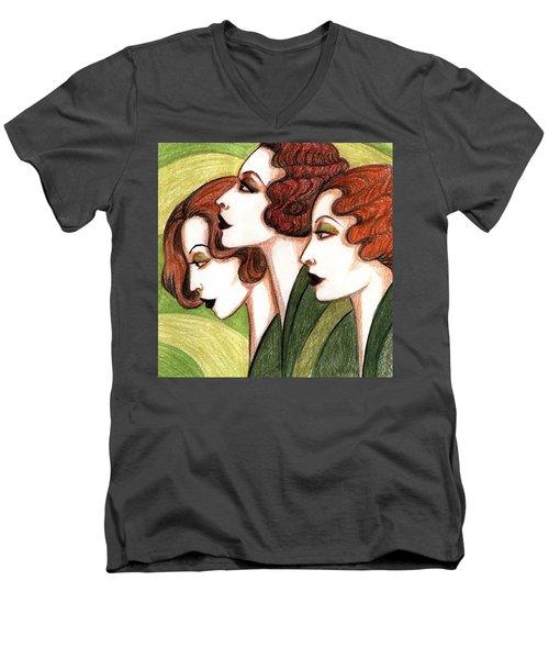 Debutante Trio Men's V-Neck T-Shirt