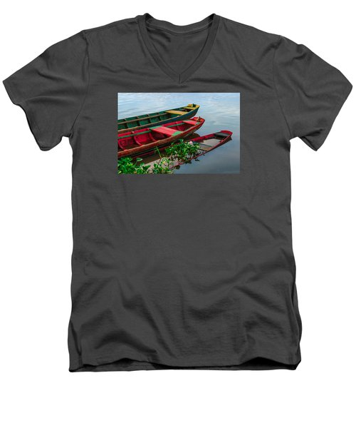 Decaying Boats Men's V-Neck T-Shirt by Celso Bressan