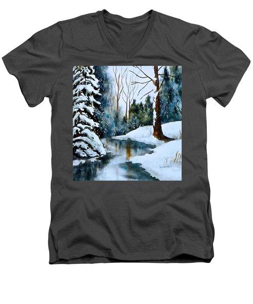 December Beauty Men's V-Neck T-Shirt