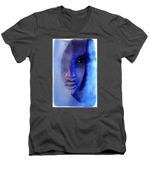 December Blues Men's V-Neck T-Shirt by Gun Legler