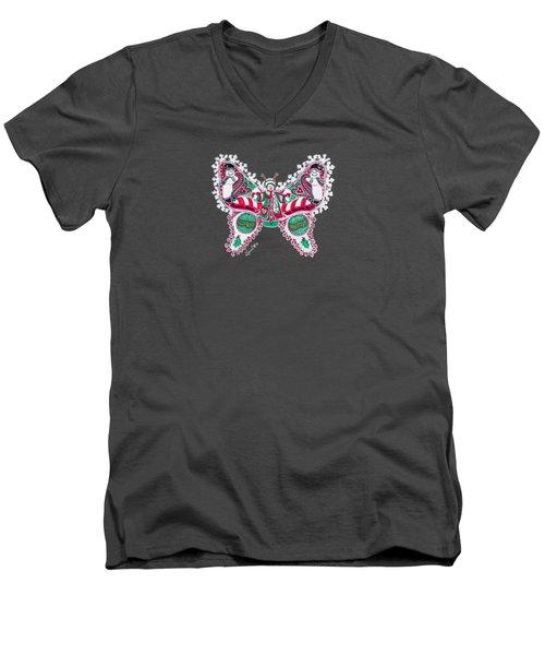 December Butterfly Men's V-Neck T-Shirt