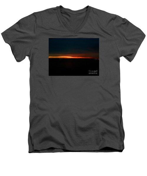 December Dawn,  Rays Of Hope  Men's V-Neck T-Shirt by Patricia E Sundik